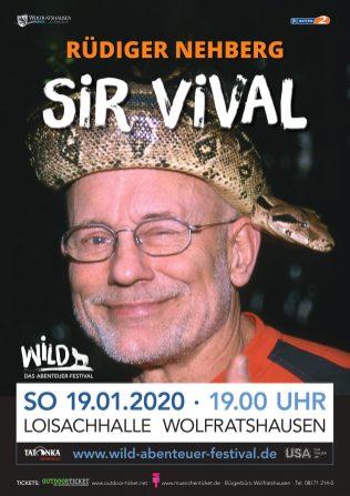 Rüdiger Nehberg schließt das Festivalwochenende mit seinem Vortrag ,Sir Vival' ab.