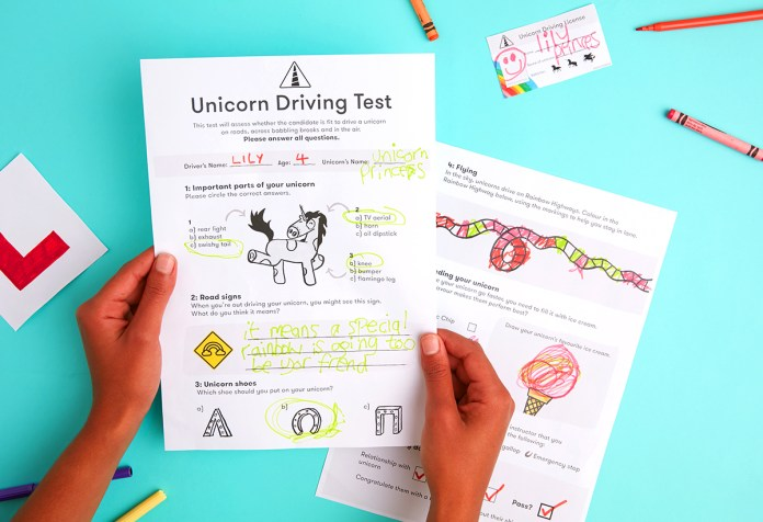 unicorn driving test game