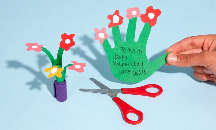 personalised mother's day handprint card