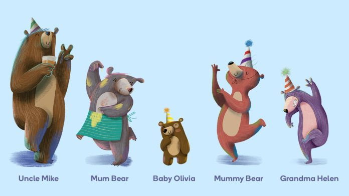 An example of a family in the littlest bear book