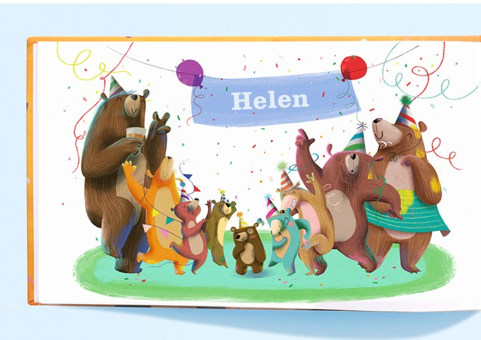 Letter for the littlest bear name page (Helen)