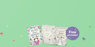 i love mummy colouring card