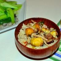 栗子香菇炊飯5