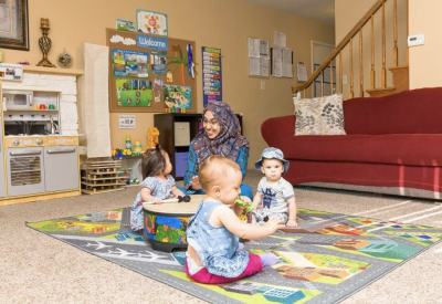 Playing musical instruments in home based child care