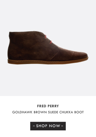 Fred Perry Goldhawk Brown Suede Chukka Boot