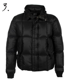 CP Company Navy Padded Goggle Down Jacket