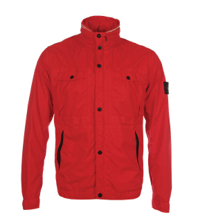 Stone Island Garment Dyed Performance Rip Stop Red Jacket