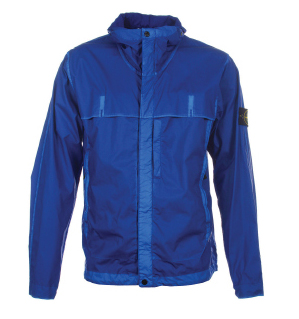 Stone Island Mussola Gommata Royal Blue Jacket