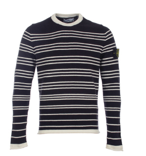 Stone Island Striped Knitted Sweater