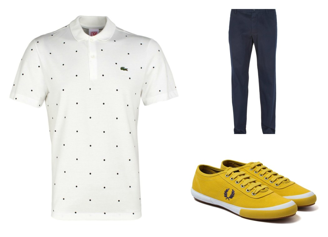 Dots, Yellow Shoes and Blue Trousers