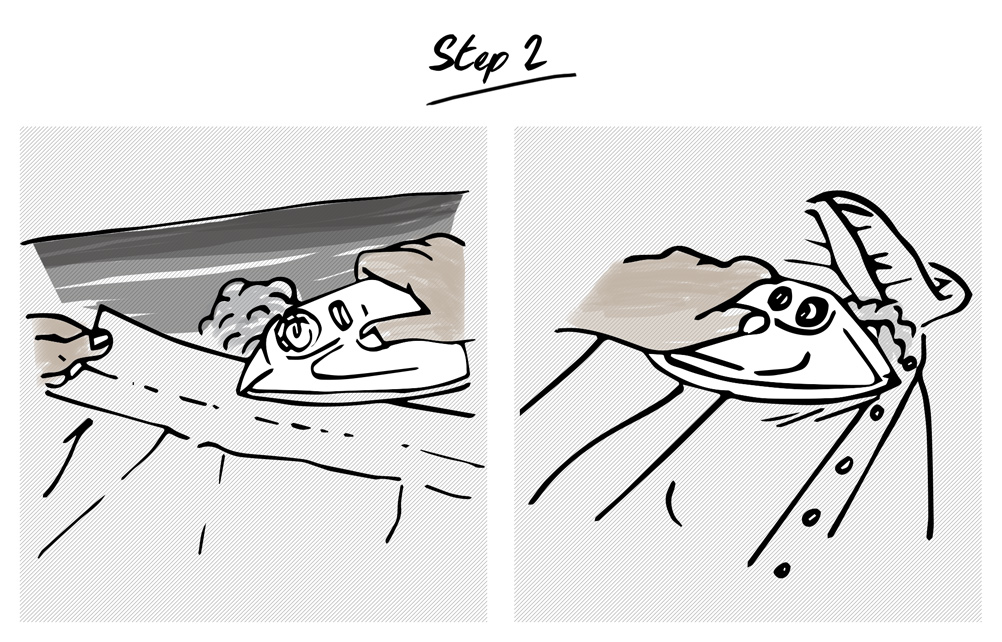 How-to-iron-a-shirt-step-2