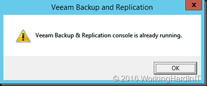 Stand-alone console in Veeam Backup and Replication v9 - Working