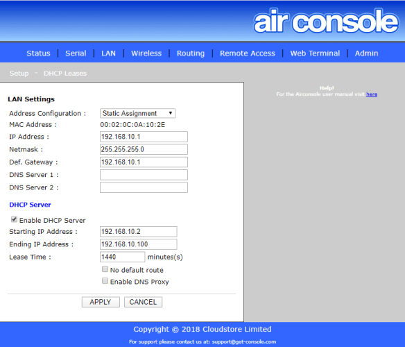 The Airconsole 2.0 Standard