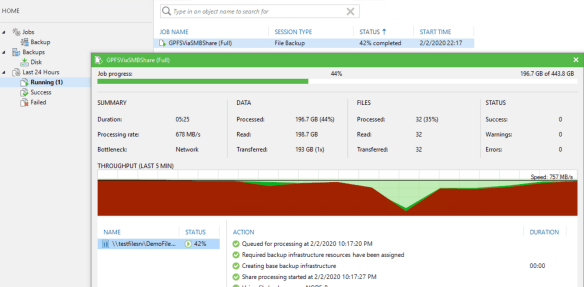 Veeam NAS and File Share Backups