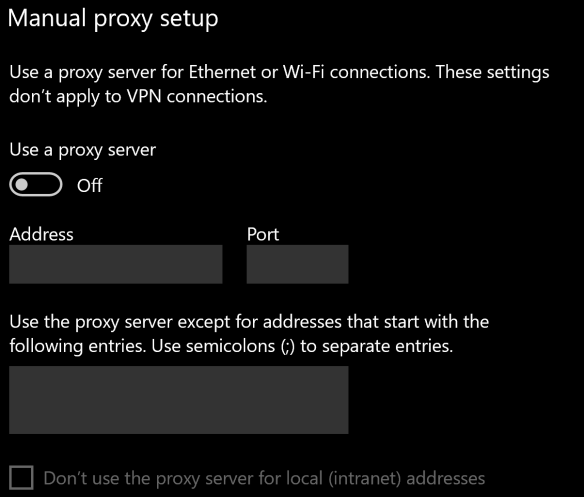 Configure WinINET proxy server with PowerShell