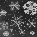 Chalk Snowflakes
