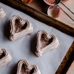 Chocolate Heart Meringue Cups with Whipped Cream and Berries