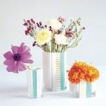 Dollar Store Washi Tape Vases