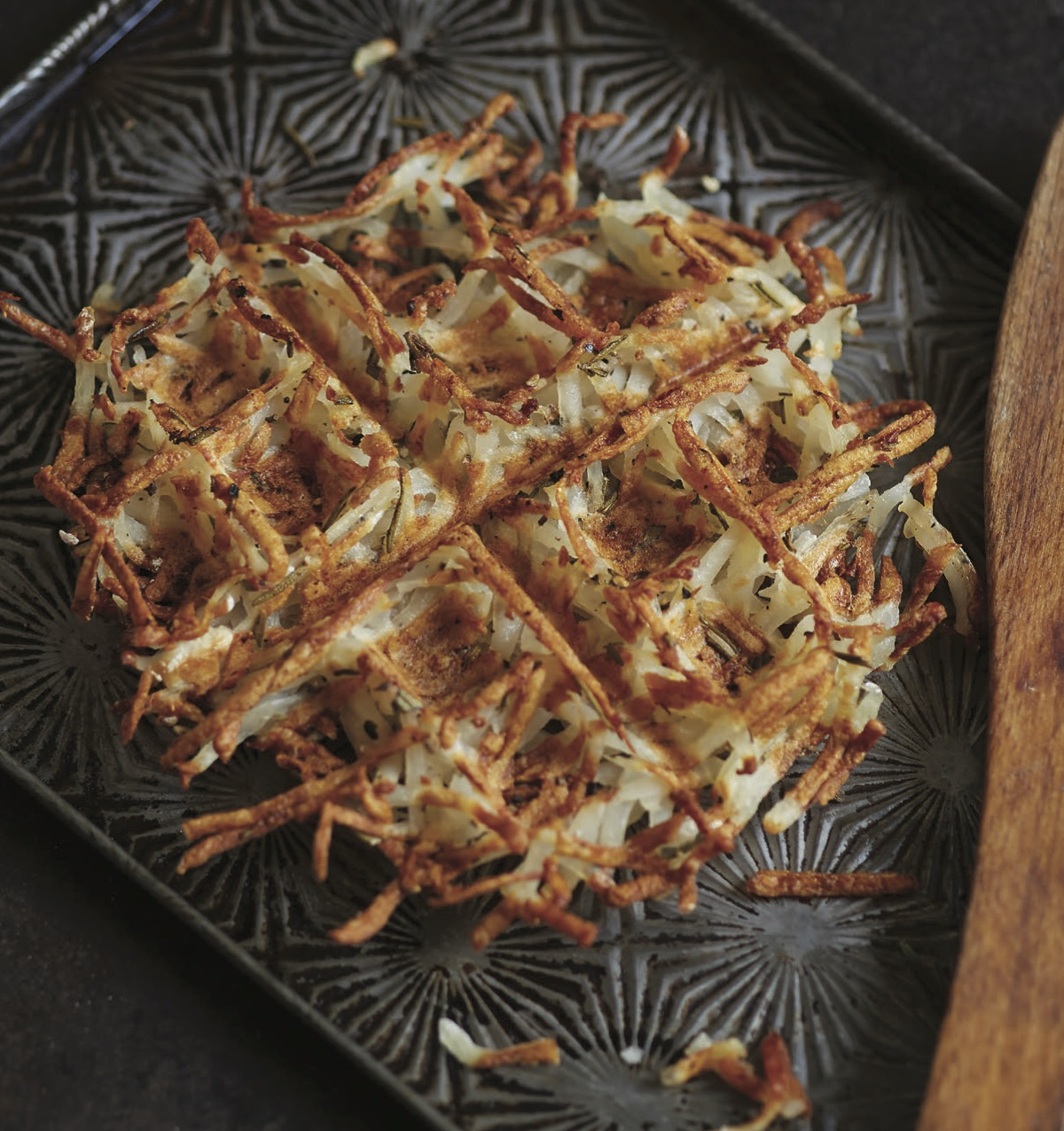 Waffled Hash Browns with Rosemary - Workman Publishing