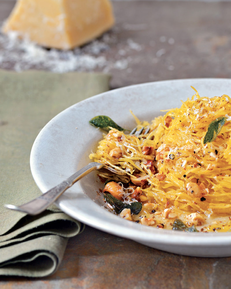 Spaghetti Squash with Brown Butter and Walnuts pics