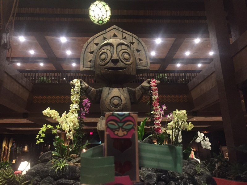 """Erupting with joy over my reunion with my cousin at the Polynesian Resort. Truth: he doesn't share my party animal gene but he was still a good sport about closing down the tiki bar.""–Tatiki"