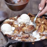 Smoke Two Ways: Smoked Apple Crisp Topped with Smoked Ice Cream