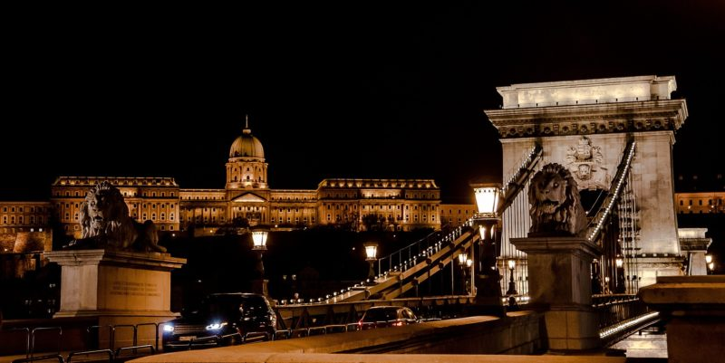 Buda Castle and the Chain Bridge in Budapest
