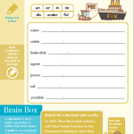 Prefix and Suffix Brain Quest Exercise For Grades Between Three and Four