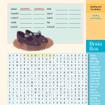 Adding Endings to Words Brain Quest Word Search Puzzle for Grade Five