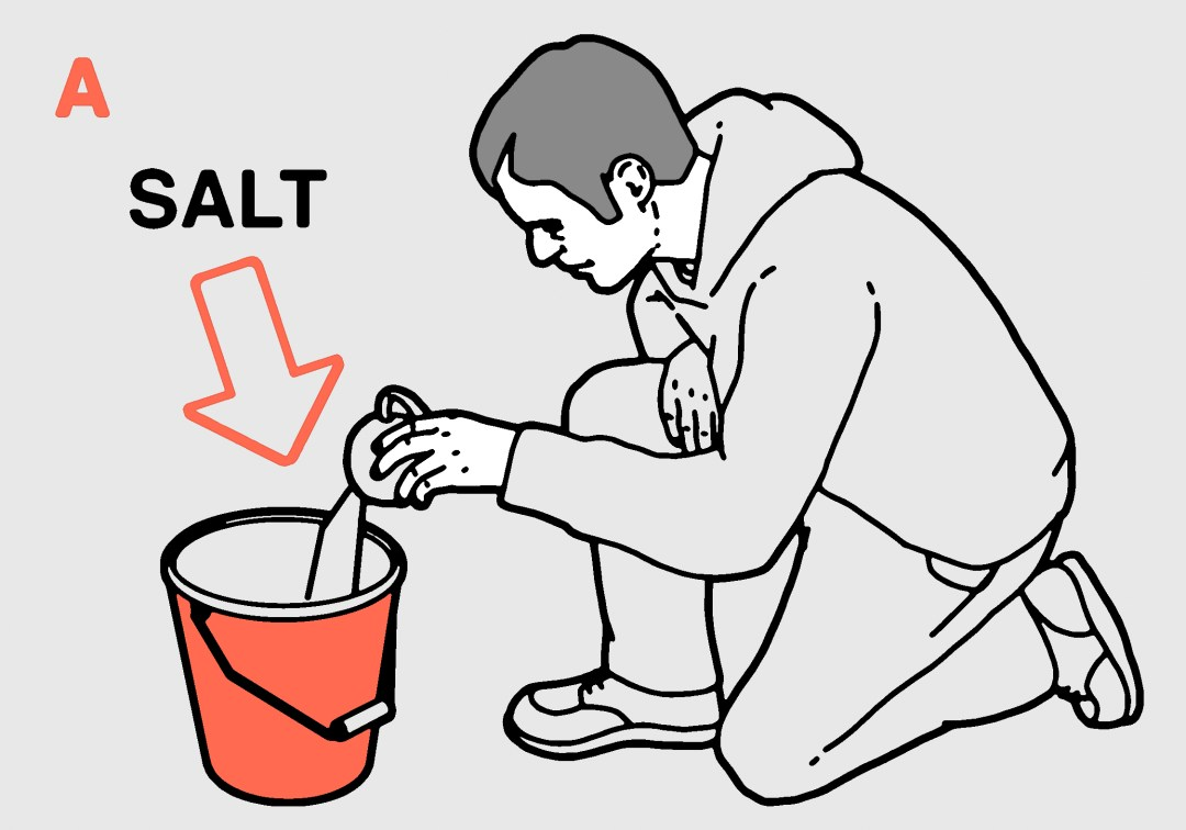 Beer hacks salt in bucket