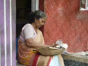 Indian woman preparing food