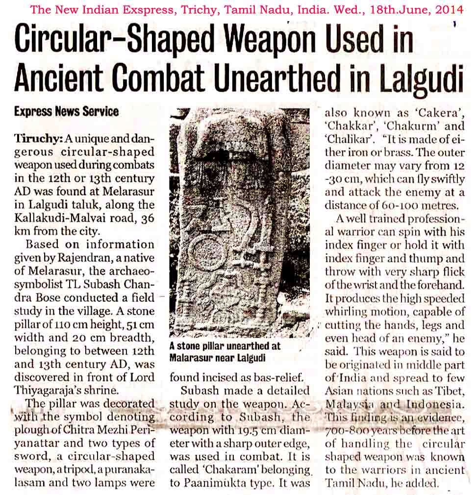 News on Chakram in the Indian Express.image.