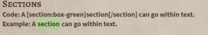 Codex Sections - highlight text