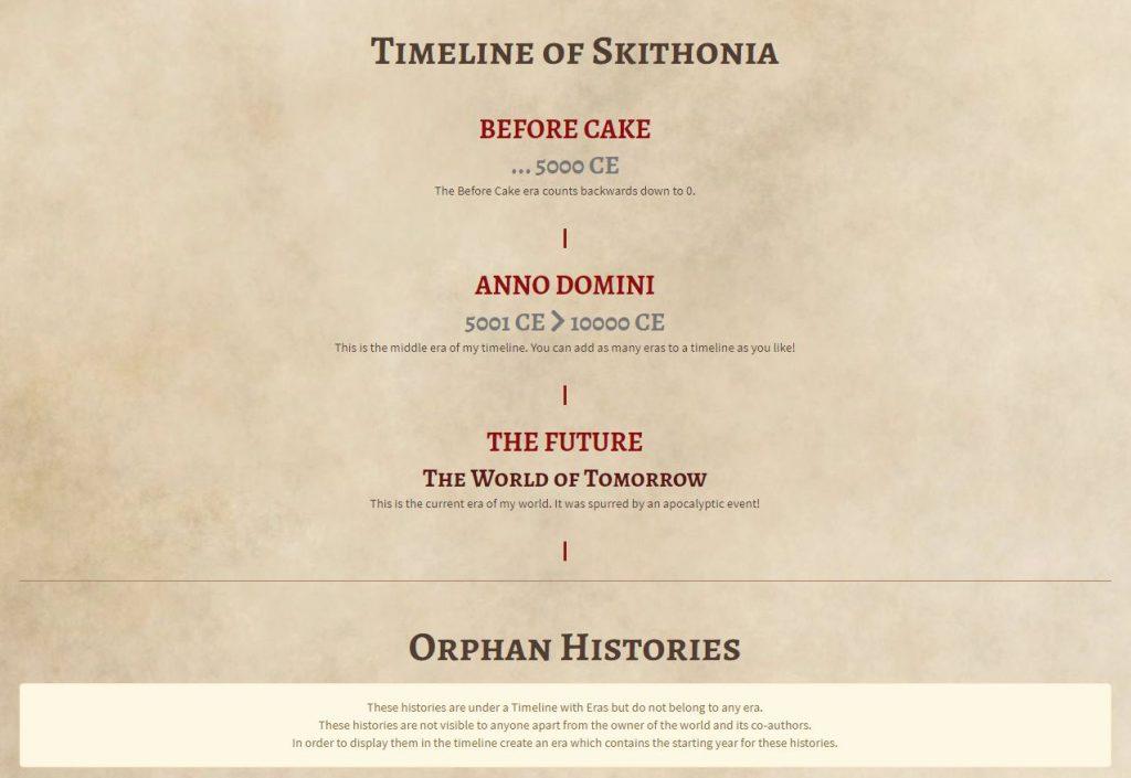 World Anvil Timelines Tutorial