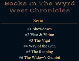 Wyrd West's global content block has a book list