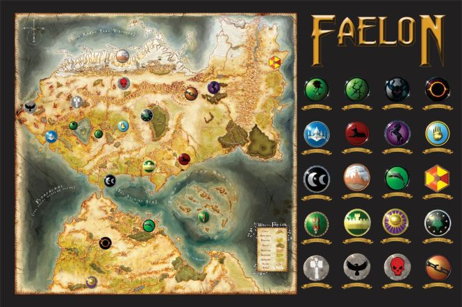 map of the amazing RPG setting of Faelon