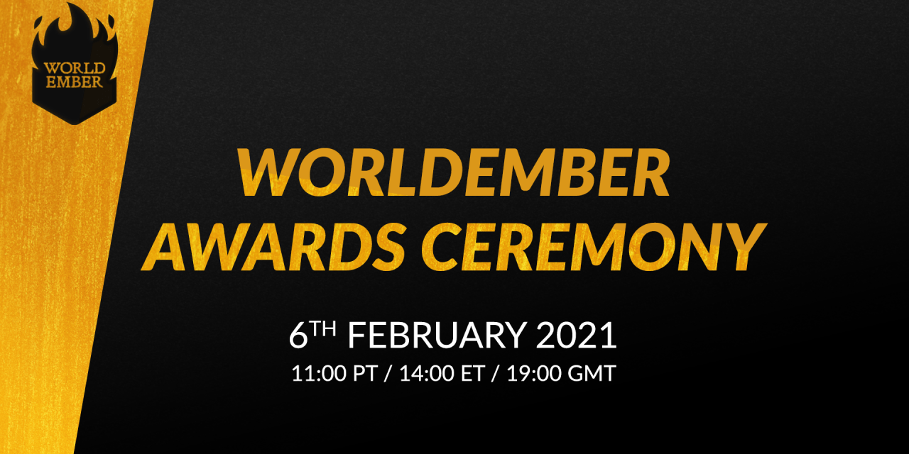 WorldEmber 2020 Awards Ceremony —don't miss it!