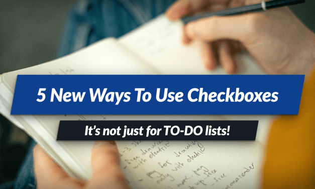5 ways to use the checkbox feature