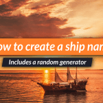 Top tips to create fantasy and space ship names