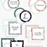 Imprimible: etiquetas para tu boda o fiesta