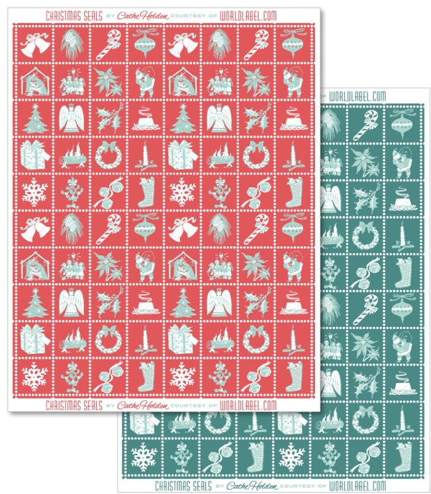 Christmas Envelope Seals Gift Seals And Labels Free