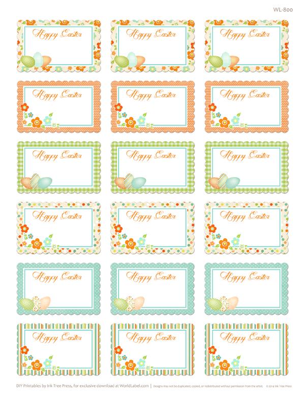 Spring Has Sprung Easter Printable Labels Worldlabel Blog