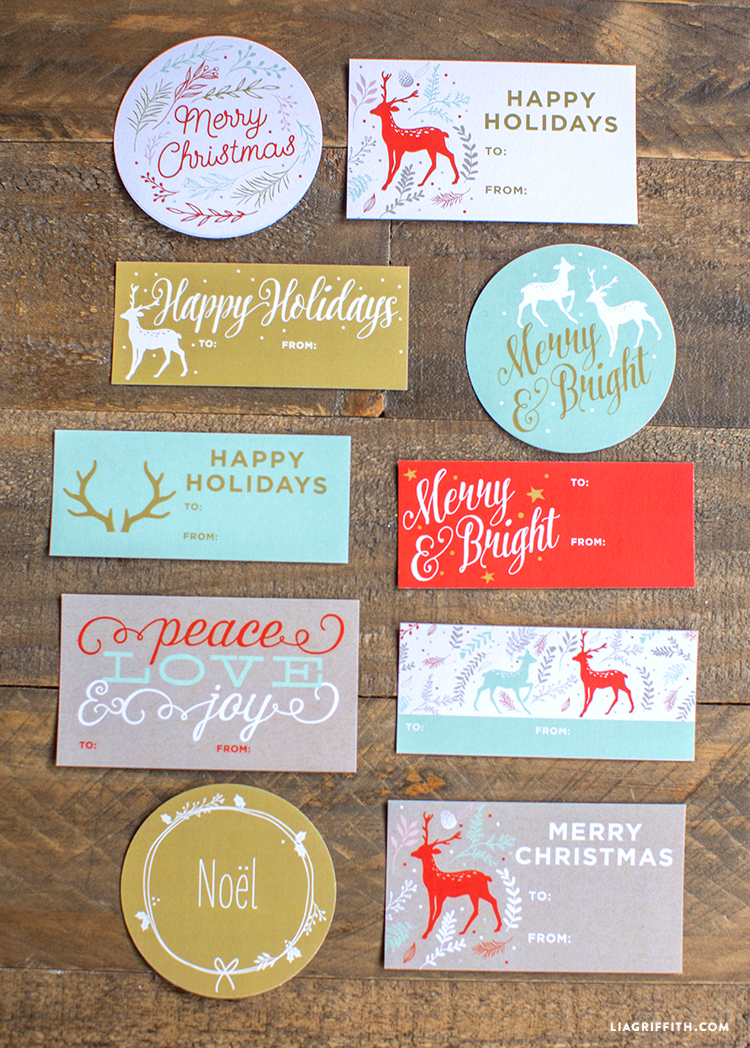 Printable Holiday Gift Labels Amp Tags By The Lia Griffith