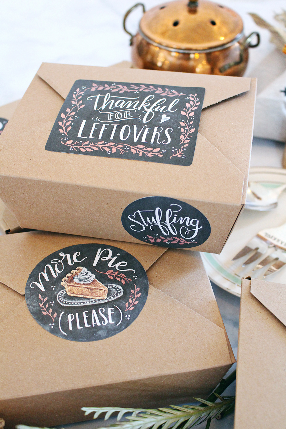 Black And White Pantry Labels