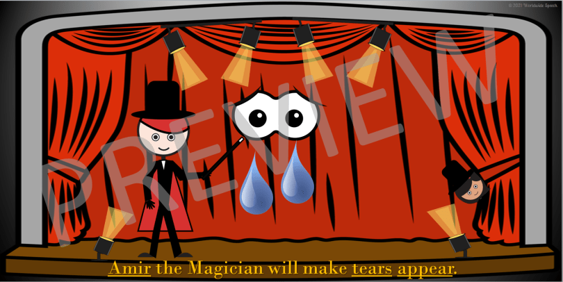 picture of amir the magician making tears disappear