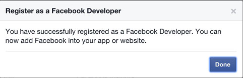Register as a Facebook Developer