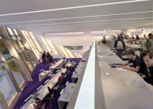 Die Bibliothek von Zaha Hadid (c)Zaha Hadid