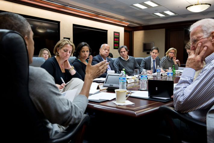 Female Obama staffers in meeting