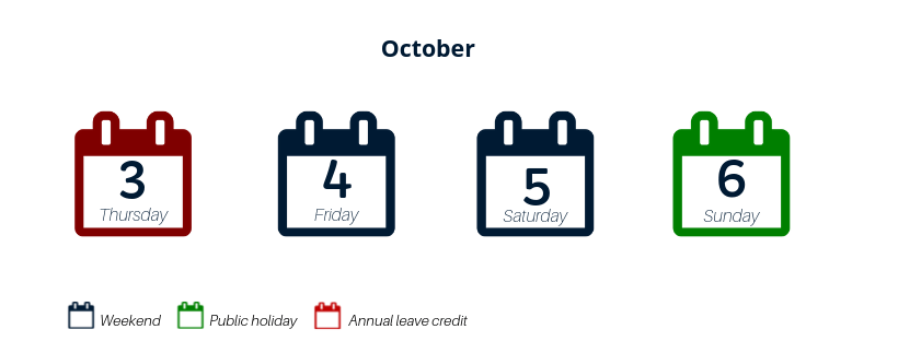 annual leave credit oct