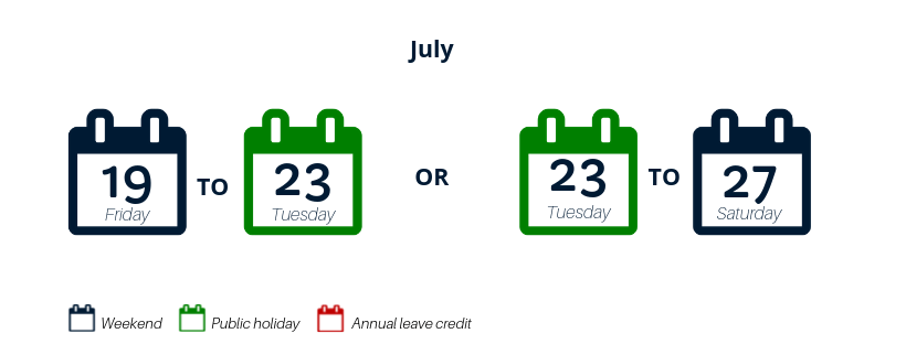 annual leave credit july